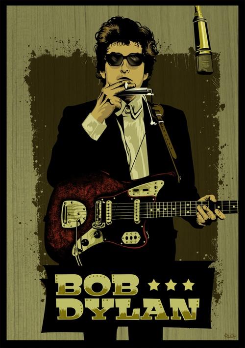 I dislike Bob Dylan's music  but I love this aesthetic     Bob DylanbyPolilla