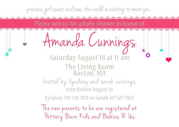 Baby shower invite. 5x7 printable design by GoToGirlSignDesigns, $15.00