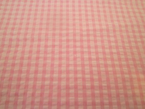 Pink Gingham Seersucker Fabric Cotton Fabric Finders Sewing