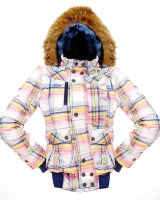 Urban Surface Damen Winterjacke mit Fell Kapuze weiss-pink-blau  Neu Gr.M/38 € 39,90