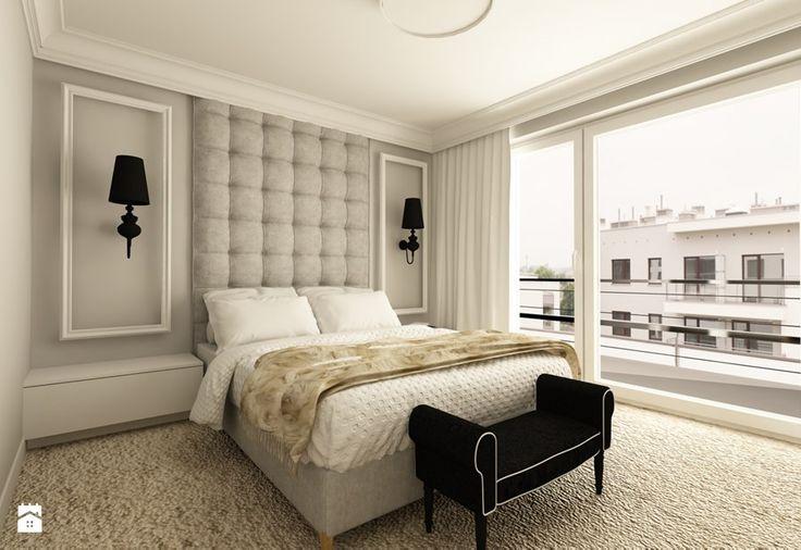 Kolory ściany za łóżkiem. A może poczaszkować nad ramami na ścianie? Oczywiście bez tych lampek