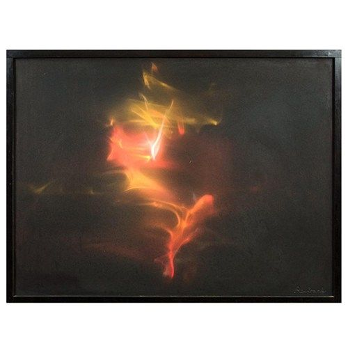 Earl Reiback Kinetic Lightbox Sculpture w/ Lucite Stand