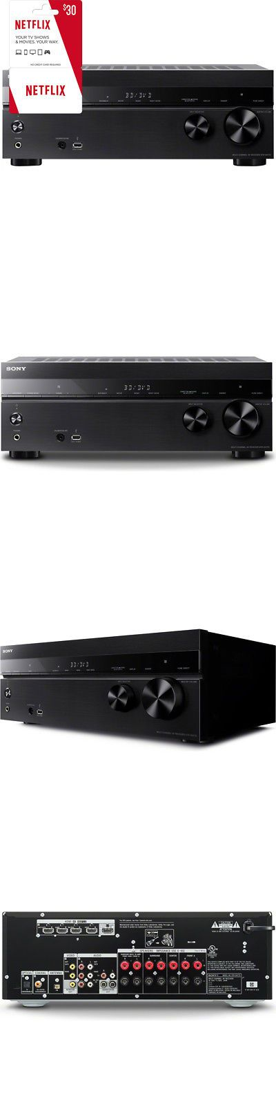 Stereo Receivers: Sony Str-Dh770 7.2 Channel 145 W 4K Home Theater Av Rec + $30 Netflix Gift Card -> BUY IT NOW ONLY: $298 on eBay!