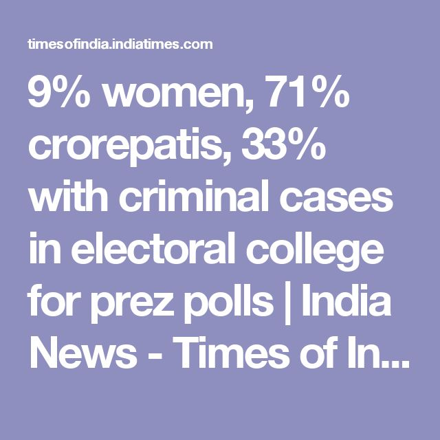 9% women, 71% crorepatis, 33% with criminal cases in electoral college for prez polls | India News - Times of India
