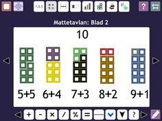 Mattetavlan är ett interaktivt verktyg för undervisning i grundläggande matematik. Den innehåller flera olika verktyg för att stärka förståelsen av matematiska begrepp. I Mattetavlan kan du visualisera nya matematiska begrepp tillsammans med dina elever med hjälp av t ex. talrader, bråk och tallinjer. Det går även att skapa projekt som de sedan kan laborera självständigt med.
