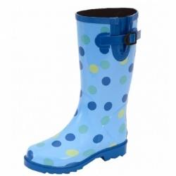 Ranger Puddletons Polka Dot Blue Women's Rain Boots