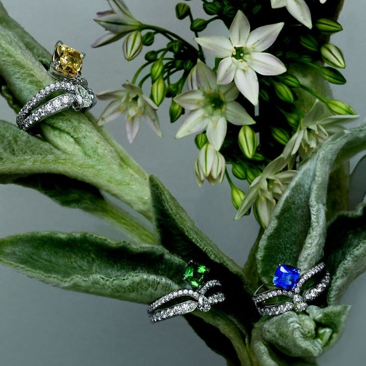 """Chaumet Joséphine Eclat Floral engagement rings. Chaumet is known as the """"jeweller of feelings"""" and this is why!"""