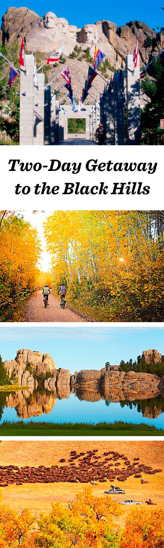 Two different itineraries for a weekend getaway in South Dakota's beautiful Black Hills: http://www.midwestliving.com/travel/south-dakota/black-hills/two-day-black-hills-getaway/ #southdakota #blackhills #custerstatepark