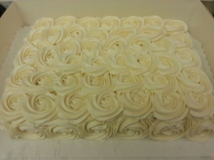 Rosette Sheet Cake Birthday Cakes Pinterest Sheet