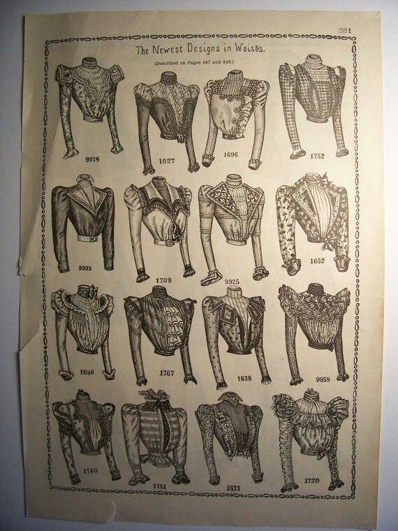 Trajes antiguos// blusas o partes superiores