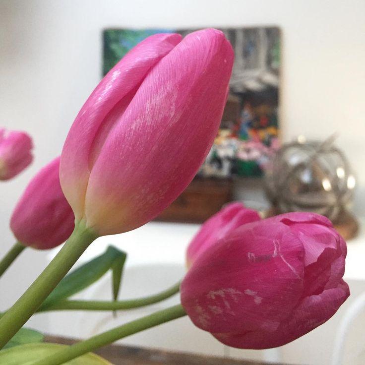 Petit plaisir à la maison #home #homesweethome #tulips #spring #pink…