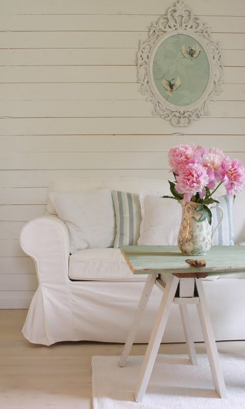 Just A Hint Of Gray Green Blue Paint Comfy Sofa And