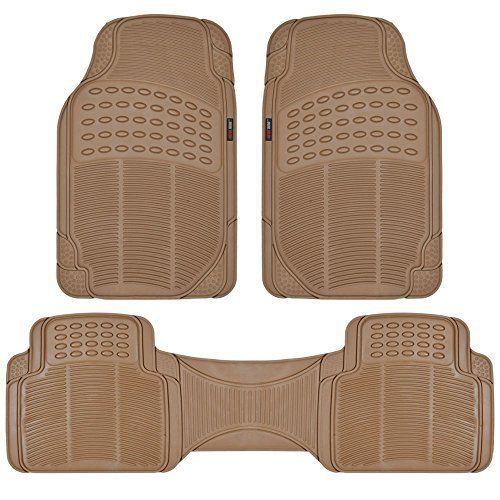 MotorTrend 100% Odorless Clean Rubber Car Floor Mat Set for Maximum Weather P... #MotorTrend