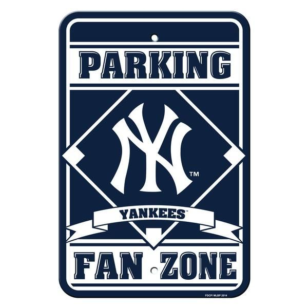 """Lay claim to your spot and show your team spirit proudly with this 12' x 18"""" styrene plastic parking sign. Made in USA by Fremont Die"""