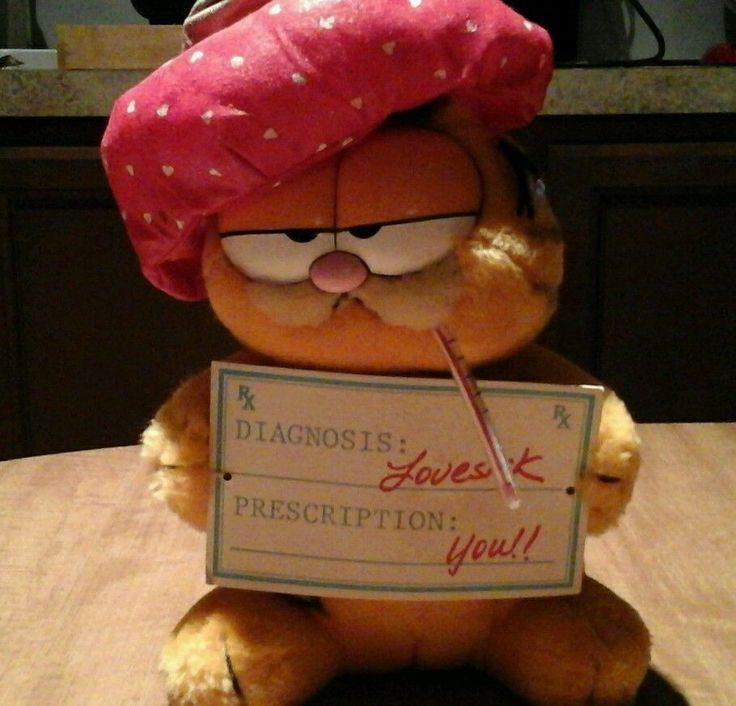 Vintage Garfield Plush By Dakin 1981  - Love Sick, Valentine  #Dakin