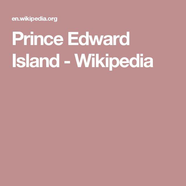 Prince Edward Island - Wikipedia