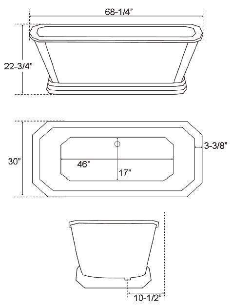 25 best ideas about bathtub dimensions on pinterest for Standard bathtub size in feet