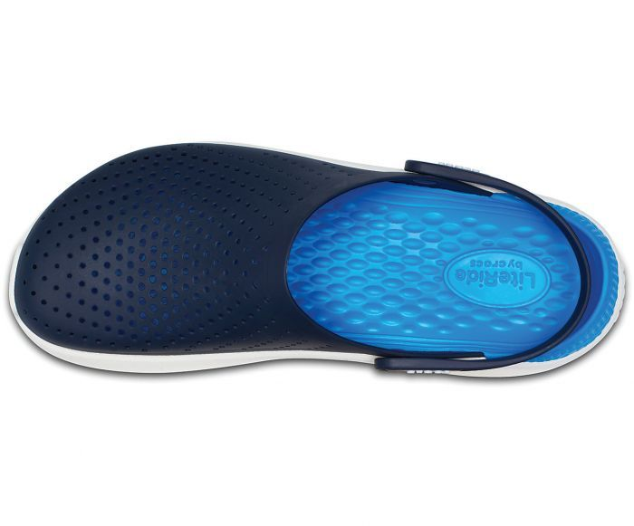 010fed35cfcc Crocs literide navy white unisex casual clog shoes for men and women.Super  soft
