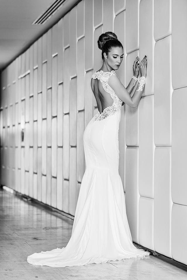 Backless bridal gown from the Hollywood glam collection