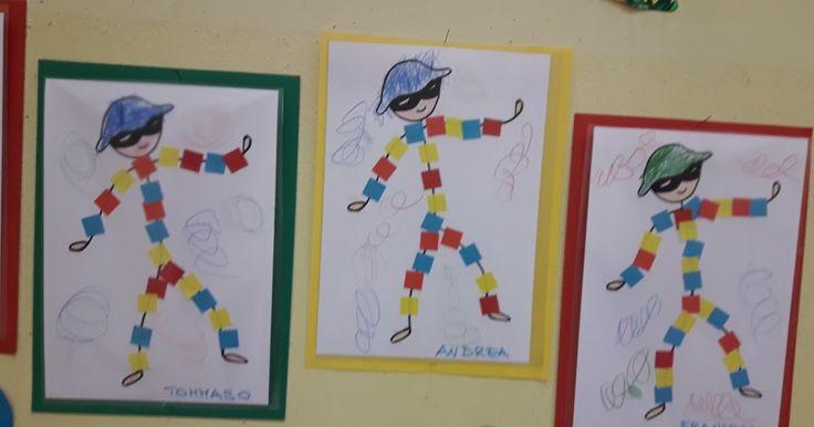 scuola dell'infanzia, classe, sezioni, bambini, maestra, Emily, decorazioni, pannello, maestraemily.blogspot.it, 2017, carnevale, arte, Mondrian, forme geometriche, colori, primari, modelli, arlecchino, quadrati, ritmi