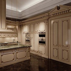 Kitchen-Romantica-version-with-laquered-and-patinated-wood-Kitchen-collection-Modenese-Gastone (9).jpg - Cucina Romantica versione laccata e patinata