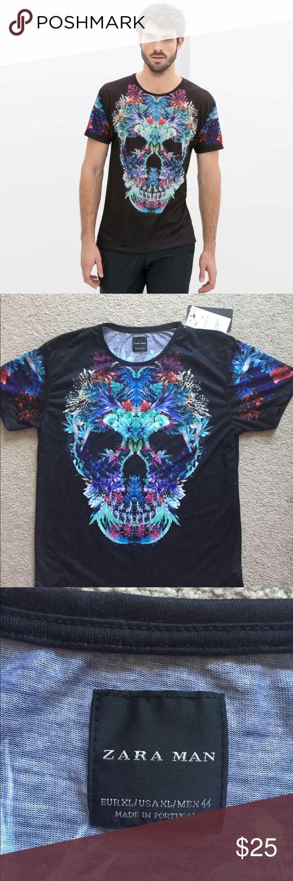 🍁SALE🍁 Zara Mens Skull t-shirt Never worn. With tag Zara Shirts Tees - Short Sleeve