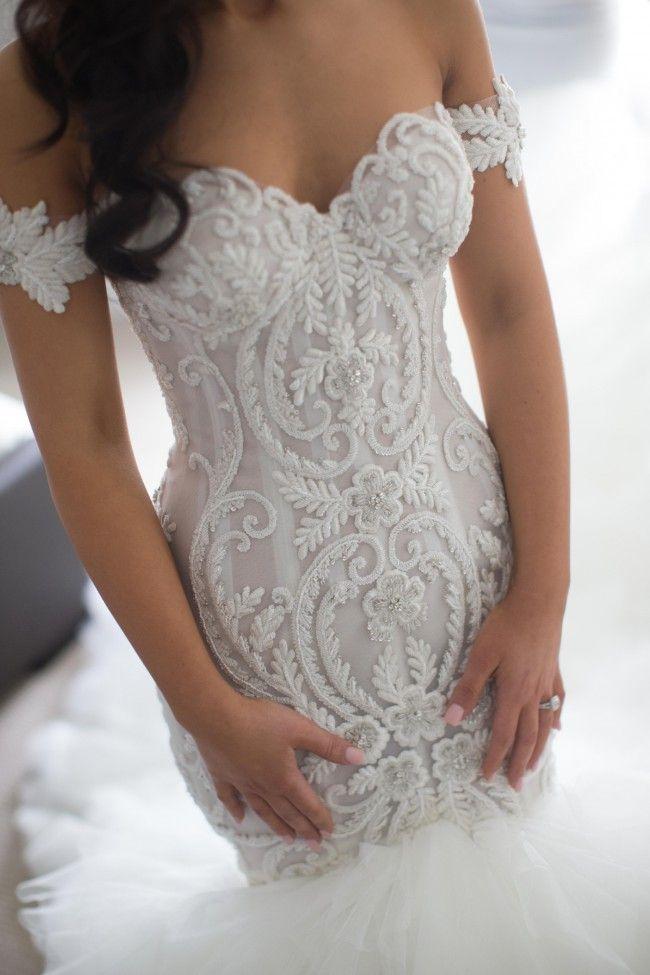 Fishtail Wedding Dresses Second Hand : Steven khalil size wedding dress sleeve and fishtail