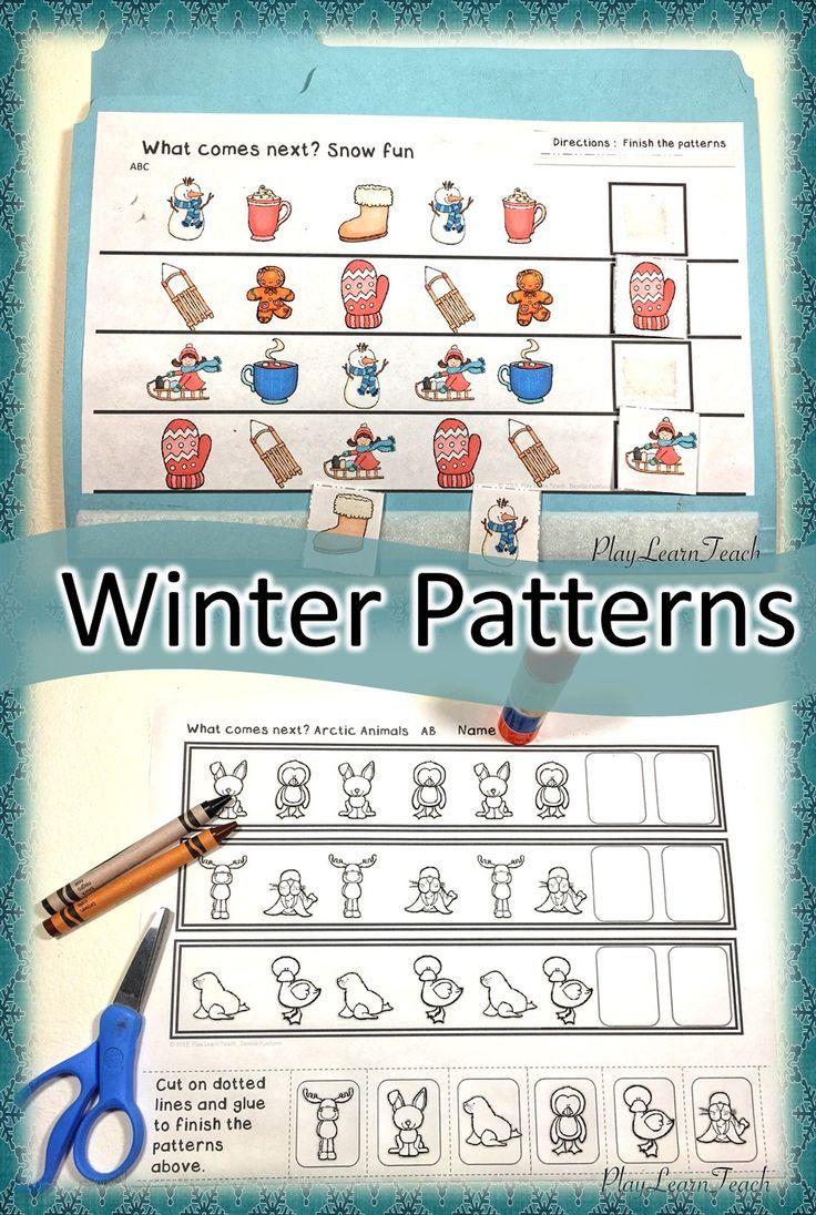 Winter Patterns | Morning work, Kindergarten and Math