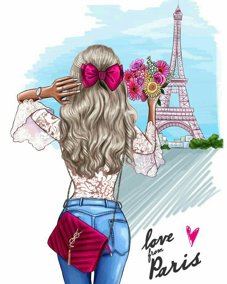 Paris And Flowers Simply Look At The Colors Used It Is Done To