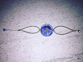 Parure plissè col.azzurro/lilla con capsule Nespresso   Long necklace, earrings and bracialet col.blue/lilac with Nespresso's capsules   ...