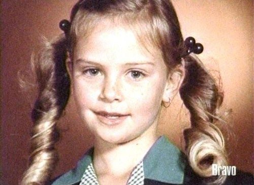 South African actress Charlize Theron childhood photo  http://celebrity-childhood-photos.tumblr.com/