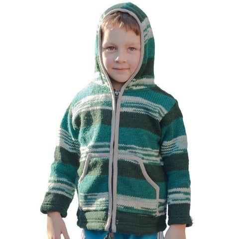 Green Wool Kids Jacket