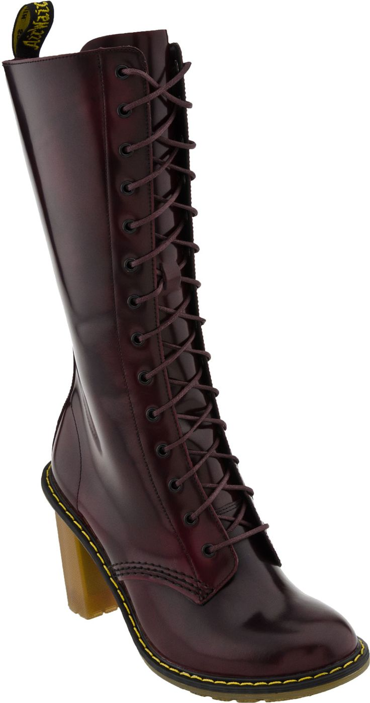 Dr. Martens Louise 14 Tie Boot (Burgundy)