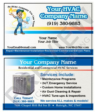 51 best images about hvac forms on pinterest shops for Hvac business card template