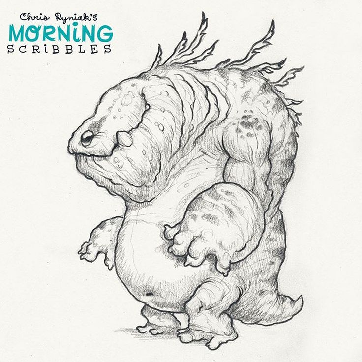 It's been a while since I drew any new Kaiju. Still the most fun to draw!  #morningscribbles