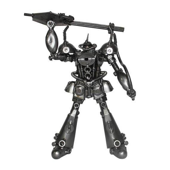 Gundam Model Real Grade Gundam Exia - Hero fighter robot (8″ x 6″ x 9″) - Metal sculpture