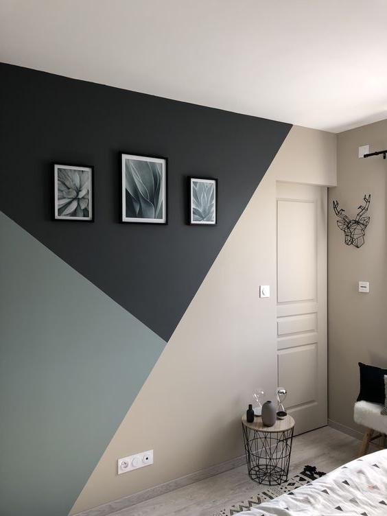 La Peinture De Parede Criativa Bricolage Peinture Interieur Maison Chambre A Coucher Peinture Chambre A Coucher Design