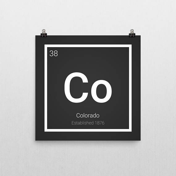 The 25 best periodic table poster ideas on pinterest table of well then do i have the print for you haha this colorado state print is modeled after the periodic table of elements and i urtaz Choice Image