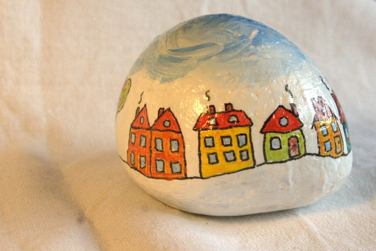 Paperweight (painted stone) (2)