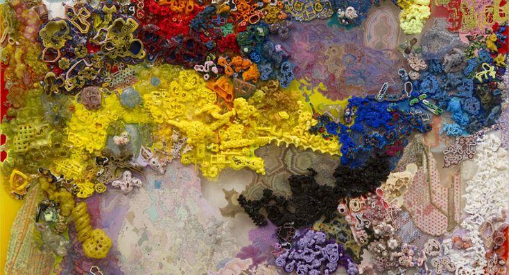 zo ongeveer alle kleuren die je kent zijn hierin te vinden. door de manier waarop ze in elkaar overlopen lijkt het net een geheel