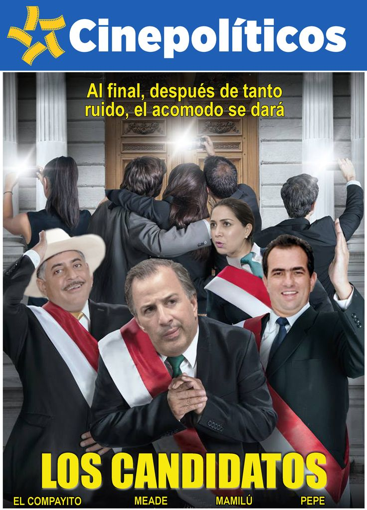 Los candidatos al final...