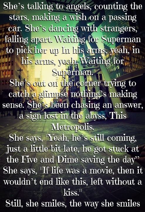 Daughtry - Waiting for Superman lyrics  Love this song!!!