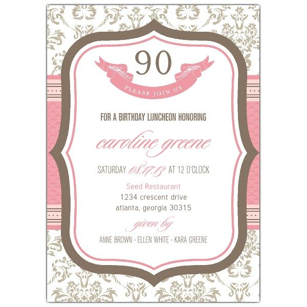 Best Moms Th BDay Images On Pinterest Birthday Invitations - Sample birthday invitation in french