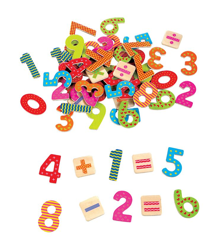 BOUGHT BY AUNTIE MARG & UNCLE ANDY The Wooden Toybox Magnetic Numbers/Symbols