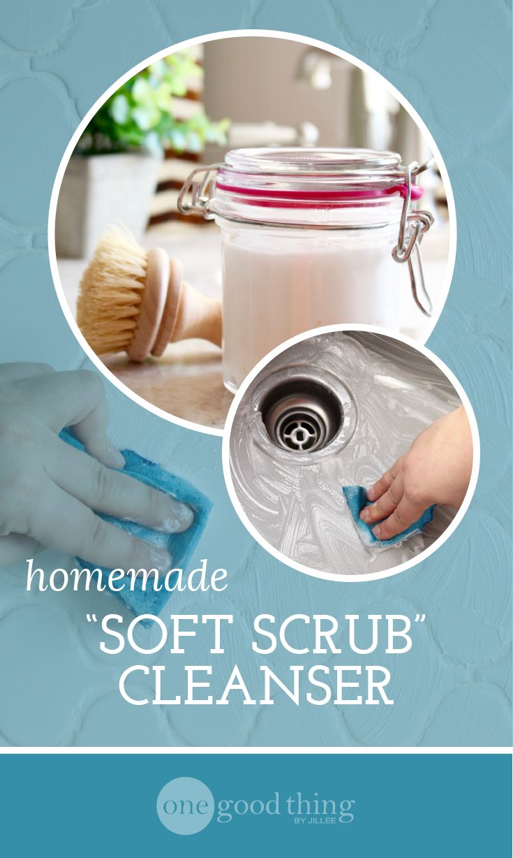 This homemade version of Soft Scrub works every bit as well as the original, plus it's made with all-natural ingredients!