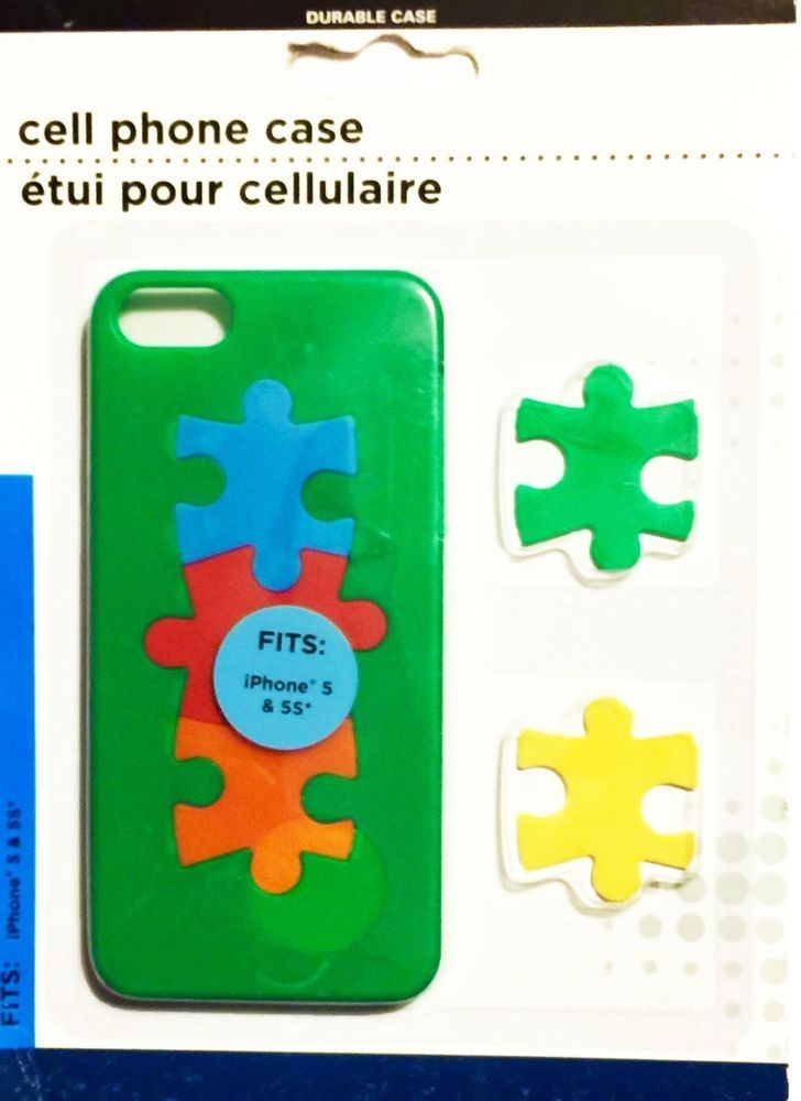 iPhone 5 & 5s Apple Smartphone GREEN Jigsaw Puzzle Cell Phone Case NIP NEW  | eBay