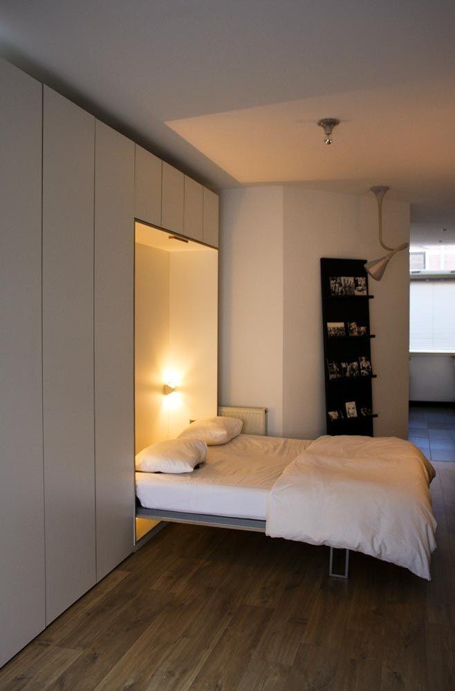 25 beste idee n over opklapbed op pinterest verborgen bed murphy bed plannen en - Outs kleine ruimte ...