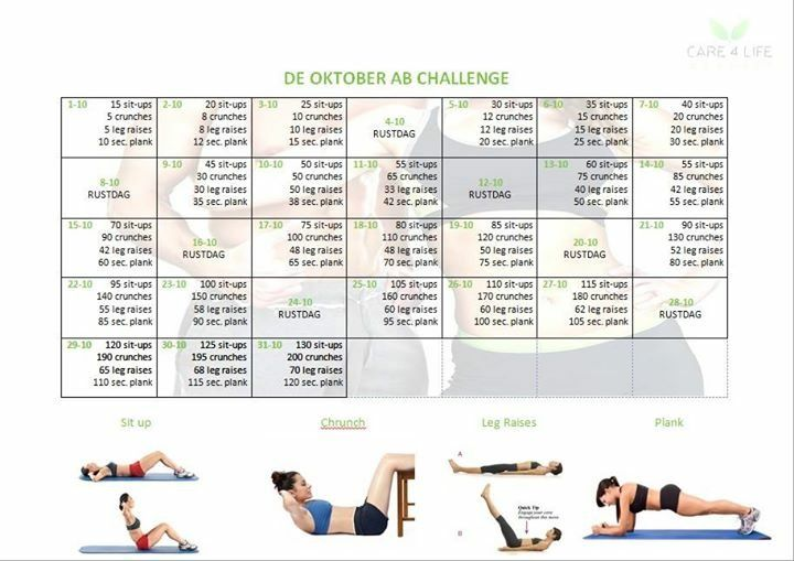 Maand oktober buikspieren schema