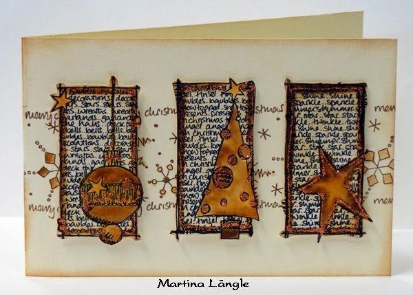 Bastel-Oase-Orsingen: Jofy Weihnachtskarten LOVE these stamps - wish I could find them.