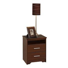 Prepac Furniture Coal Harbor Espresso Nightstand Ech-2250